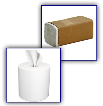 Stacked Paper Towels, Center Pull Paper Towels